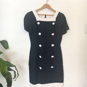 Vintage | Ann Taylor Navy and White Dress